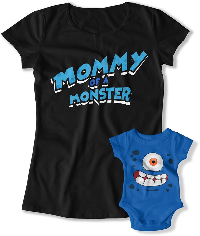 LADIES - Mommy of a Monster - FAT-784. Mommy T Shirt ... ca2d53011ca