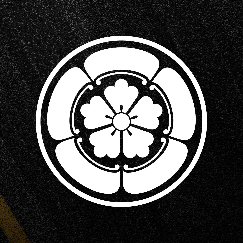 c64c1d1d9 Details about Oda Clan Samurai Crest Japanese Flower Retro JDM ...