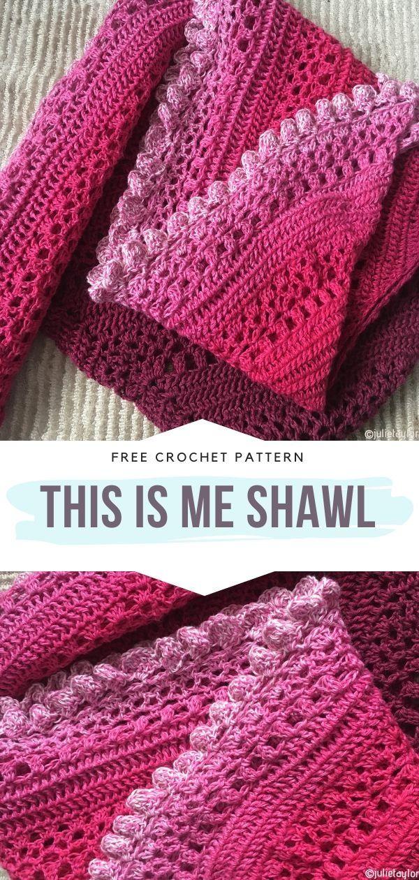 Warm Shades Shawls Free Crochet Patterns