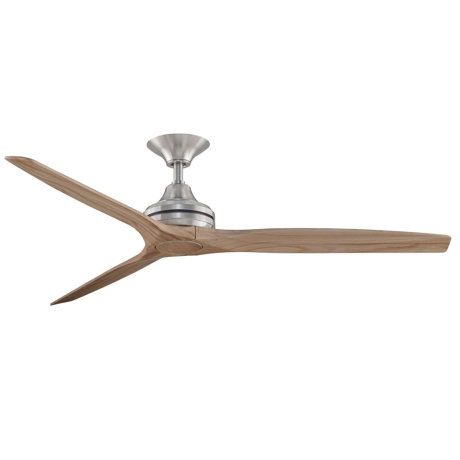 Brushed Nickel Finish Natural Wood Blades No Light Kit Wood Ceiling Fans Ceiling Fan Ceiling Fan Shades