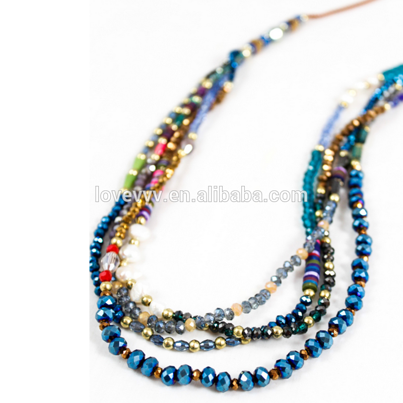 jewelry ideas multi layer crystal bead necklace designs
