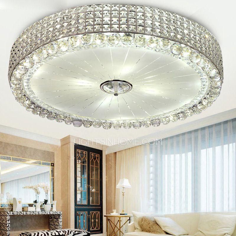 Modern Flush Mount Ceiling Light With E14 Aperture For Bedroom ...