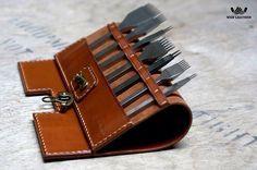 Leather tool rack/roll-SR