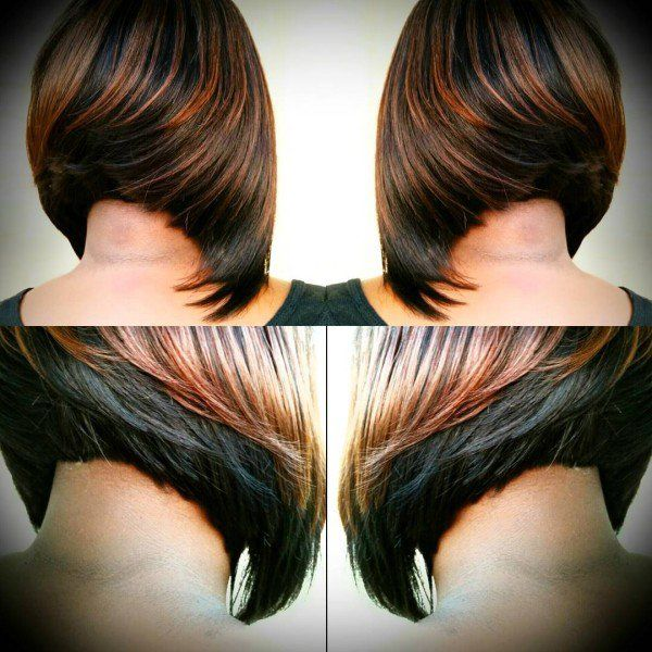 Swing Bob via @demetria_harmon | Swing bob, Black hair and Bobs
