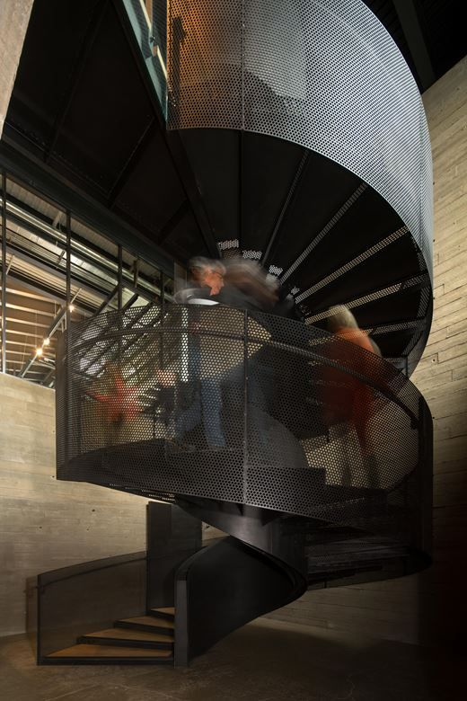 Best Martin S Lane Winery Spiral Staircase Mesh Balustrade 400 x 300
