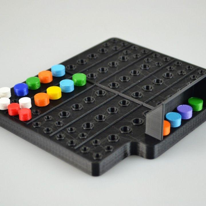 Mastermind image 3d printing, Board game design, Mastermind