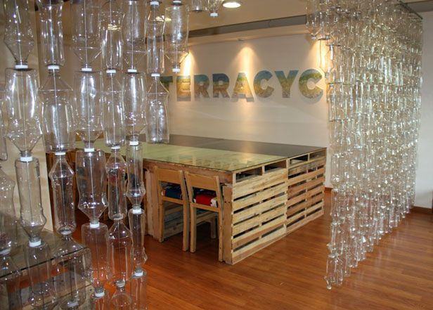 recycle plastic bottles into a clever room divider >> http://blog