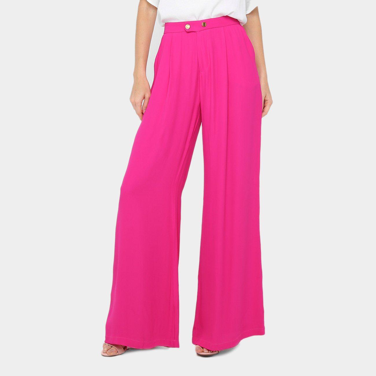 eb0f4db0d Calça Pantalona Forum Alfaiataria Cintura Alta Feminina - Rosa [CLIQUE EM  VISITAR]