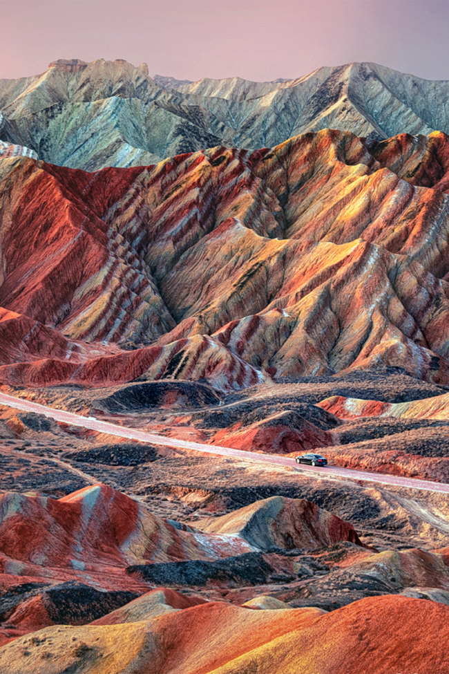 39 Of The Most Colourful Places Around The World Colorful Mountains Colorful Places Danxia Landform