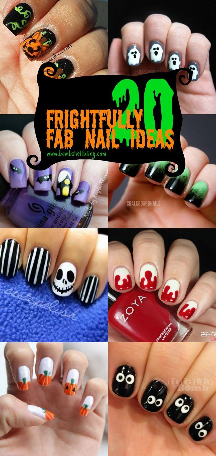 Make your hands SPOOOOKY cute!!! I love the Frankenstein ones ...