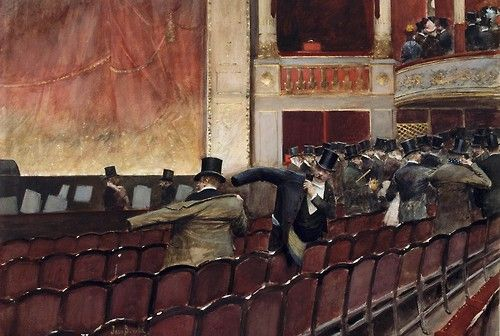 La Sortie de Théâtre Jean Georges Béraud
