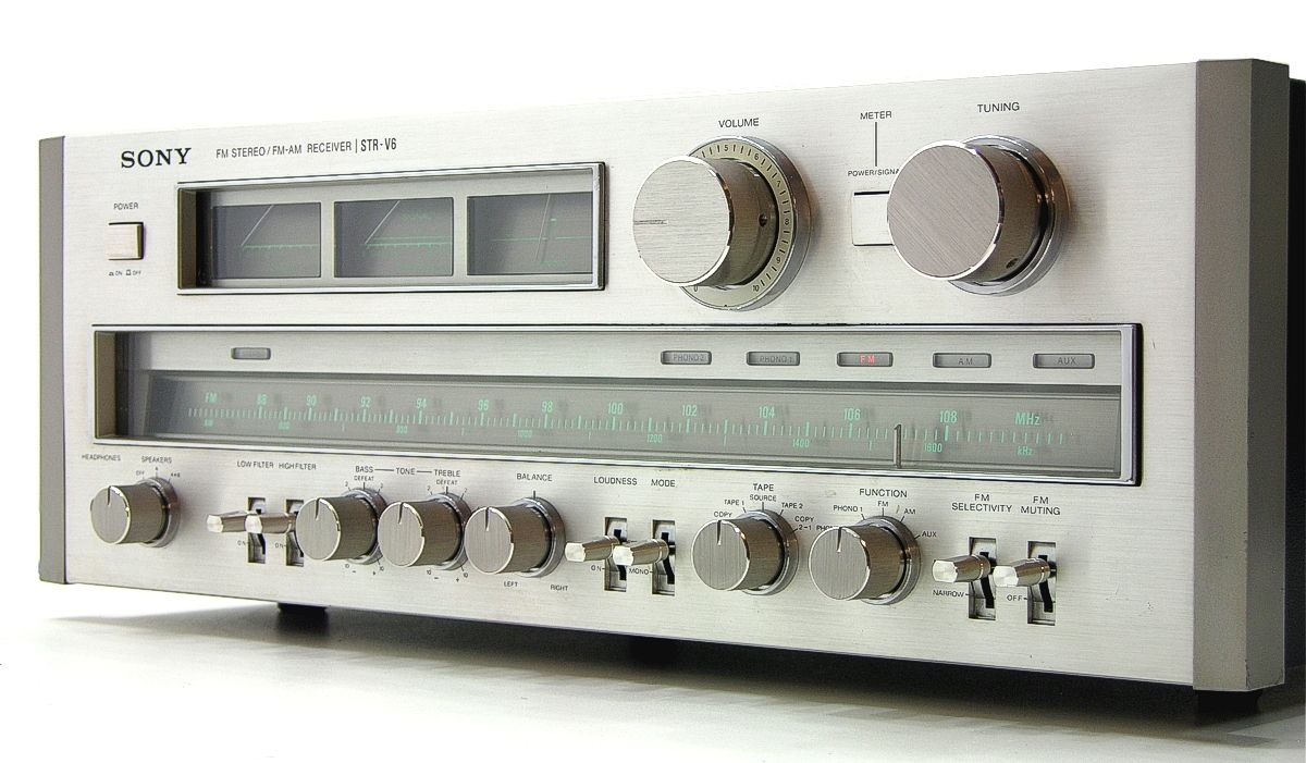 Sony Str V6 Power Output 115 Watts Per Channel Into 8w Stereo