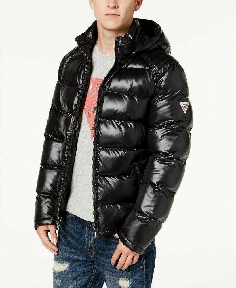 a4fb5f7b071 $225 GUESS Men's Hooded Puffer Coat Small Black NEW #fashion #clothing  #shoes #accessories #mensclothing #coatsjackets (ebay link)