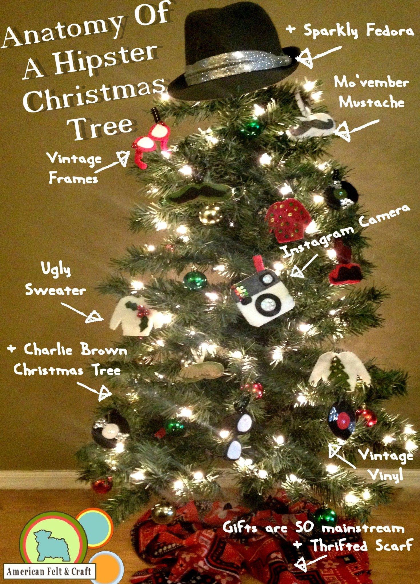 hipster christmas tree and felt ornament recap felt ornaments and