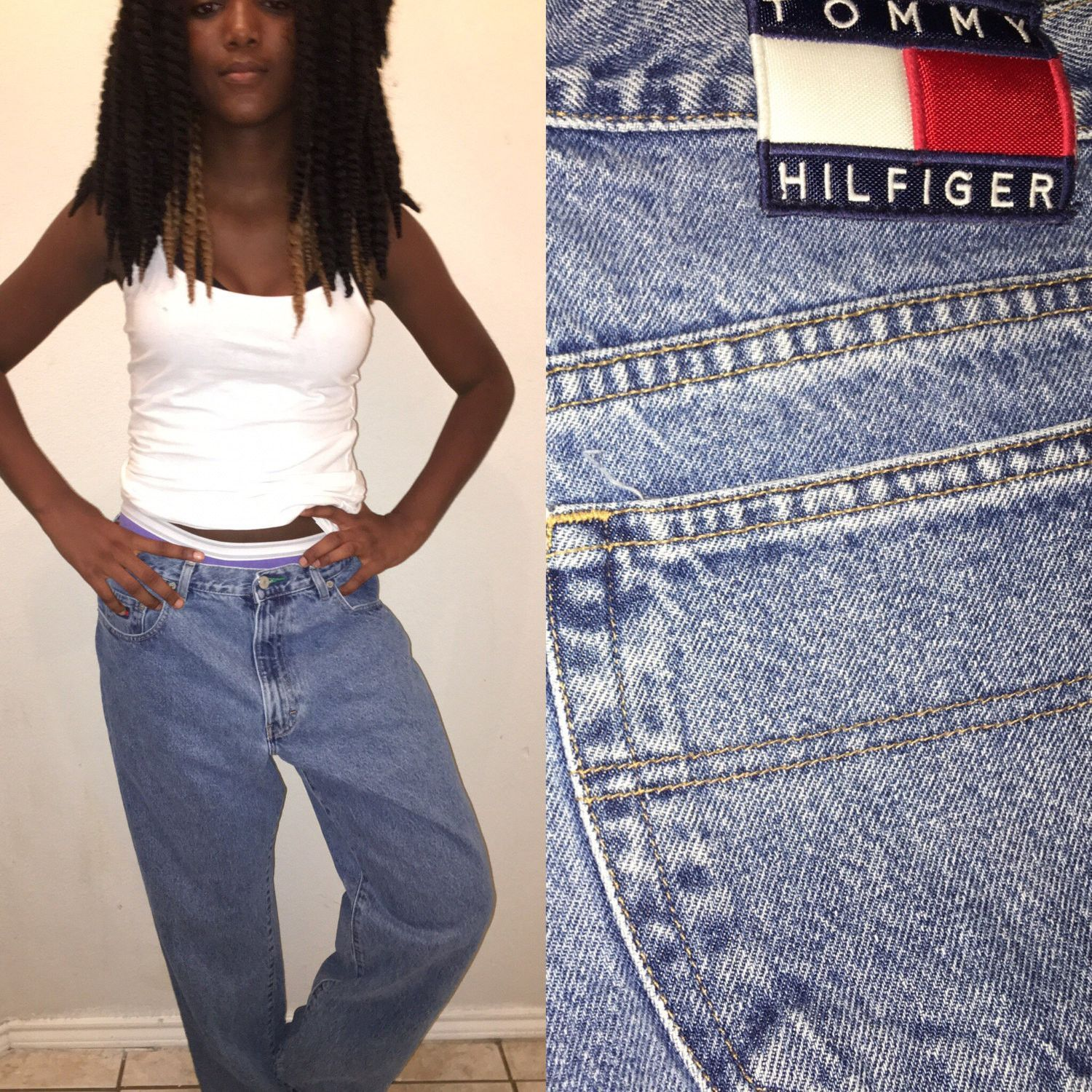 vintage boyfriend fit tommy hilfiger jeans men