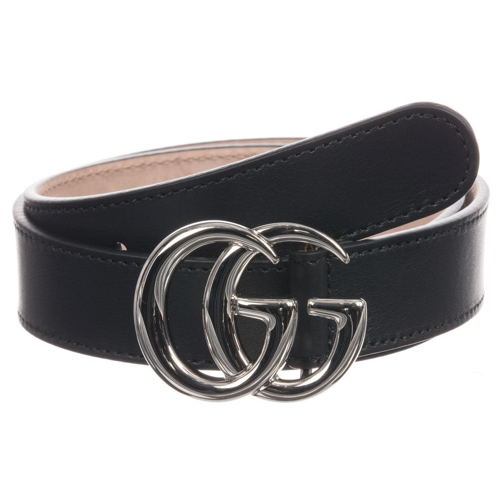 23d5a9b3e62 Gucci Black Leather GG Buckle Belt. Shop from an exclusive selection of  designer Accessories