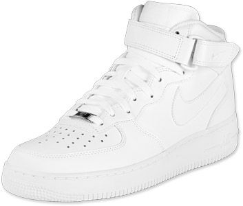 Nike Air Force 1 Mid schoenen wit | Nike air force, Dames ...