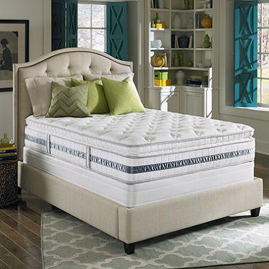 Sam S Club Serta Perfect Sleeper Glenrose Plush Super Pillowtop Mattress Set Box Spring Included Full 716