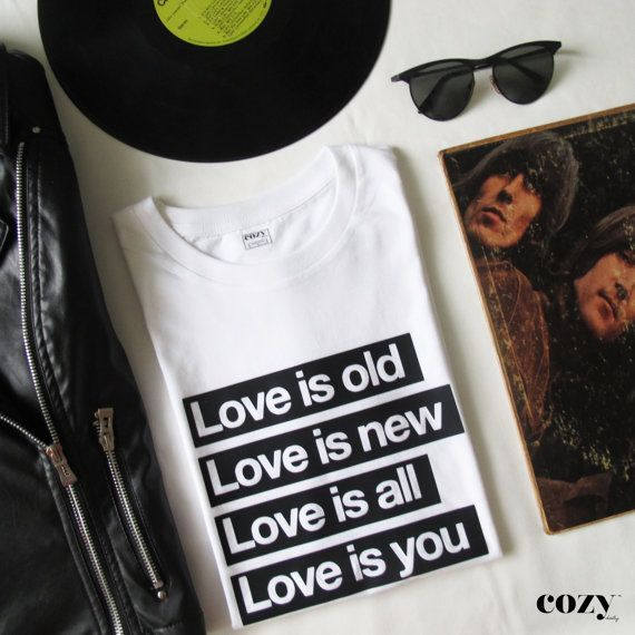 The Beatles Love Is T-Shirt by CozyDailyBrand on Etsy