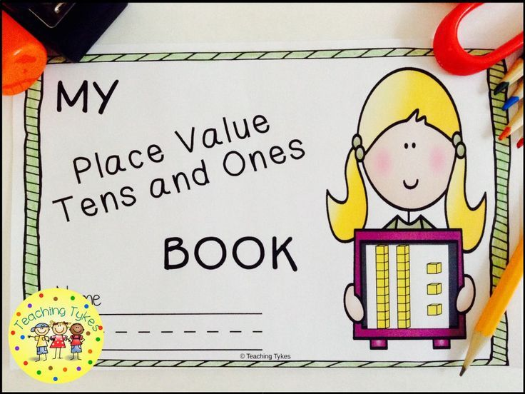 Place Value Tens and Ones Interactive Book Expanded form, Words - how to make an order form in word