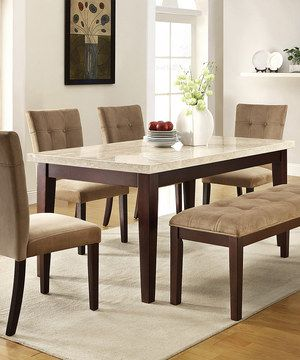 Another Great Find On #zulily! White Faux Marble Eliza Six Piece Dining Set