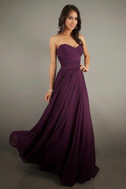 Vestidos de noche color guinda