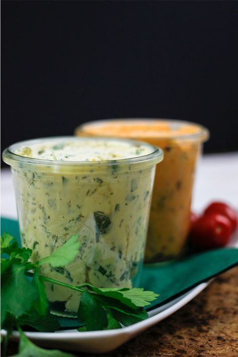 Photo of Mediterranean tomato butter & mustard herb butter recipe