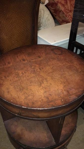 Old World Map End Table Ksl Com Ksl Furniture Picks Old World