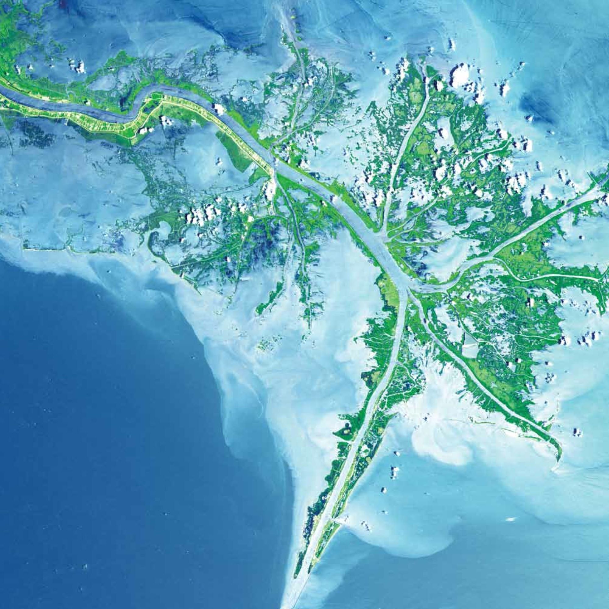 Mississippi River Delta USA Earth As Art Images From The - Mississippi river delta map