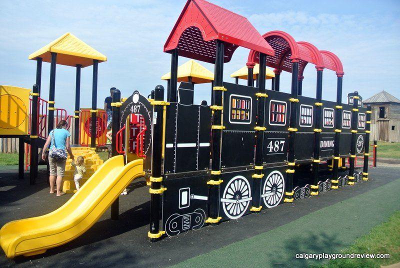 Heritage Park Train Playground Calgaryplaygroundreview Com Playground Kids Playground Heritage Train