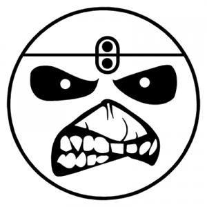 Smile Face Eddie Iron Maiden Band Vinyl Decal Sticker By