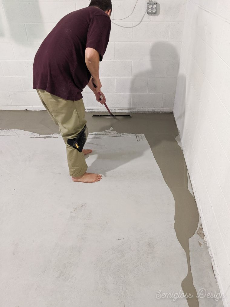 Refinish Concrete Floors In A Bat
