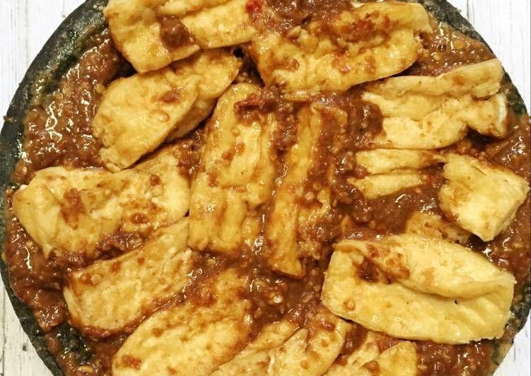 Resep Tahu Penyet Sambel Kacang Oleh Nadia Hayu Resep Resep Tahu Kacang Masakan