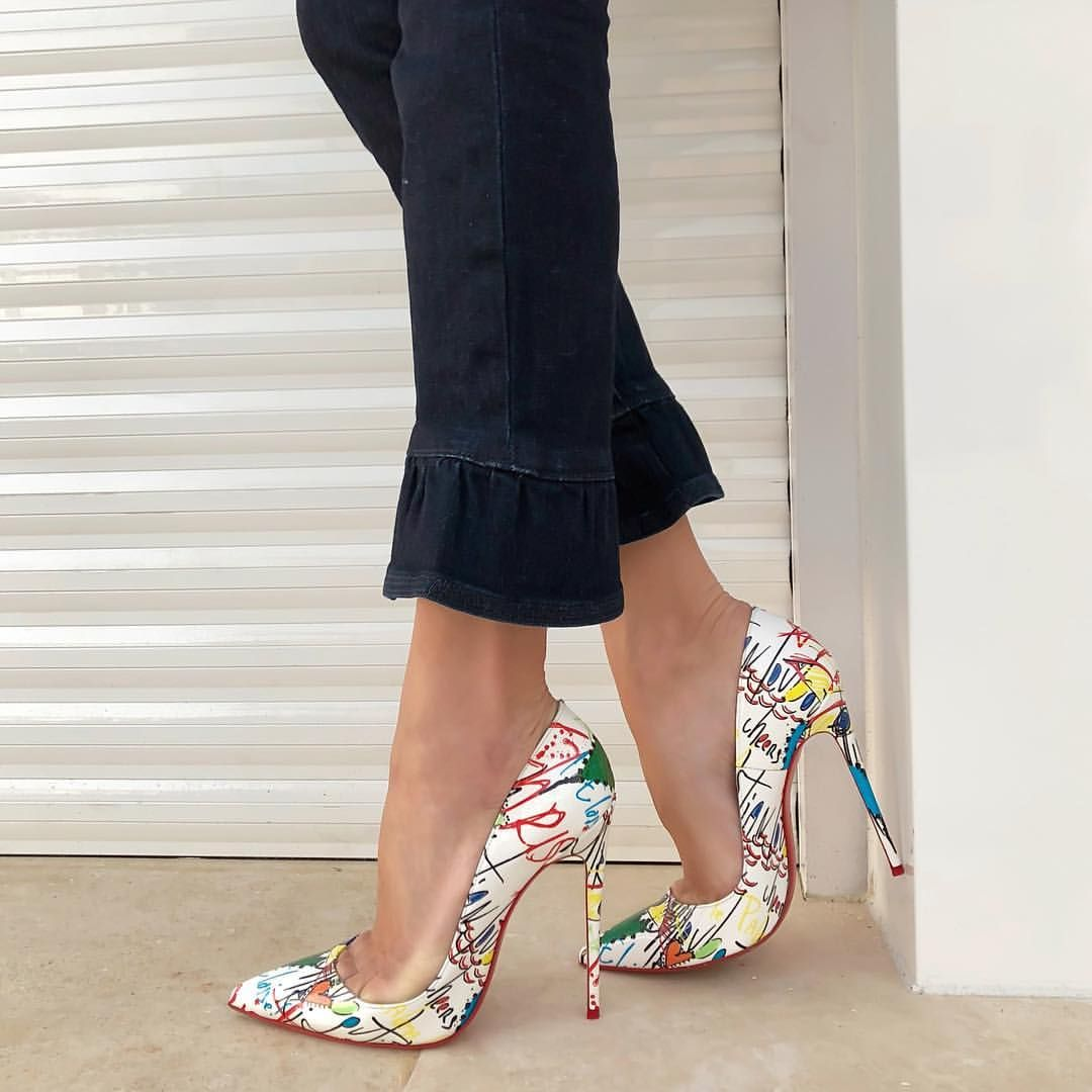 5769f755b31 The only BS I need is bags and shoes -  LouboutinSoKate120mm  Loubitag   UpCloseandStylish  JBrand