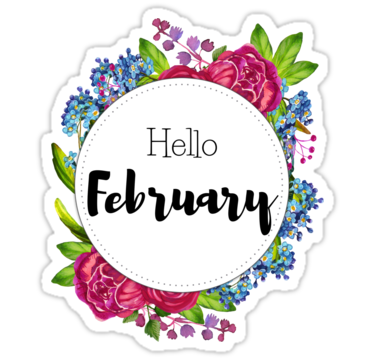 'Hello February - monthly cover for planners, bullet journals ' Sticker by vasylissa