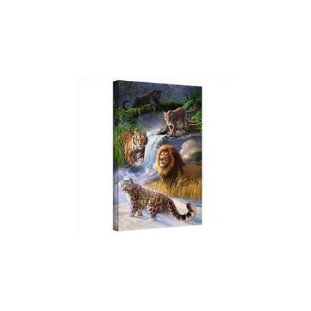Jerry Lofaro Big Cats Gallery-Wrapped Canvas, Size: 16 x 24, Green