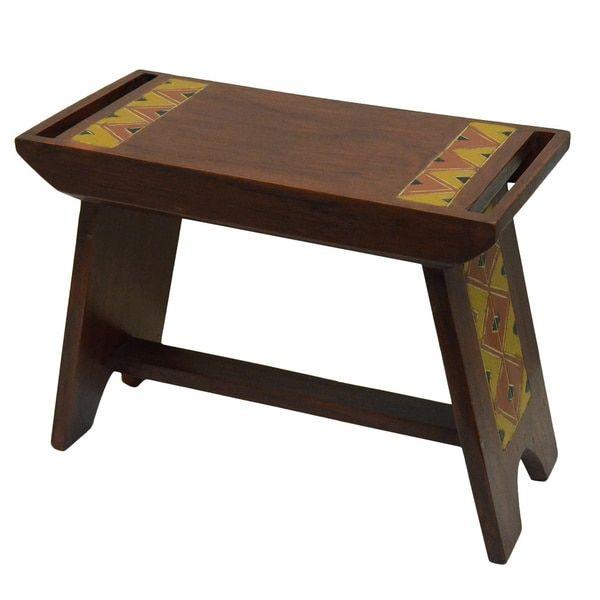 Awesome Hand Finished Craftsman House Bench Ghana Home Creativecarmelina Interior Chair Design Creativecarmelinacom