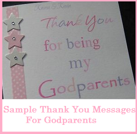 Thank You Messages  Godparents  Thank You Messages