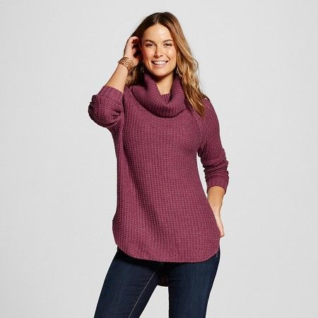 Women's Cowl Neck Pullover Tunic Sweater - Merona™ : Target ...