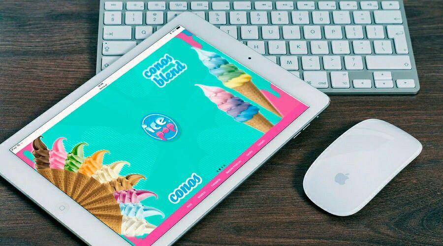 #Diseño para la #heladería #Icepop, artes para #slider principal 2/4
