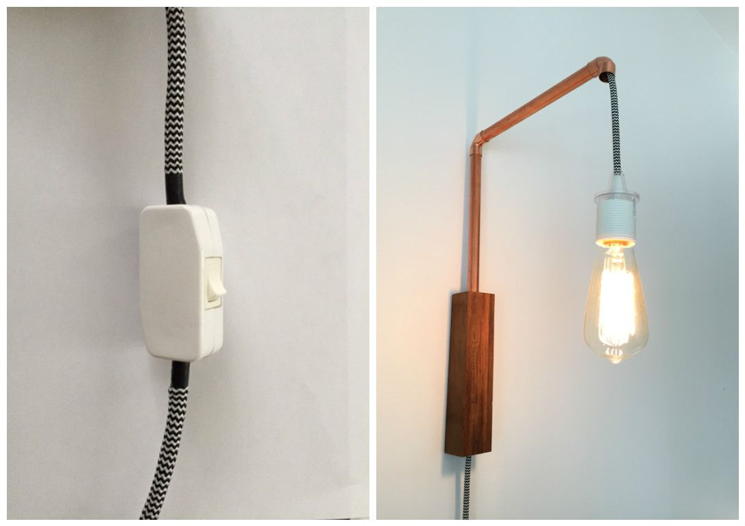 How to add an inline lamp cord switch to fabric Ikea cord set