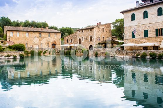 The Square Of Sources In Bagno Vignoni A Rectangular Tank Of