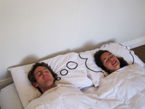 My dream girl pillows - also works as my dream guy pillows.