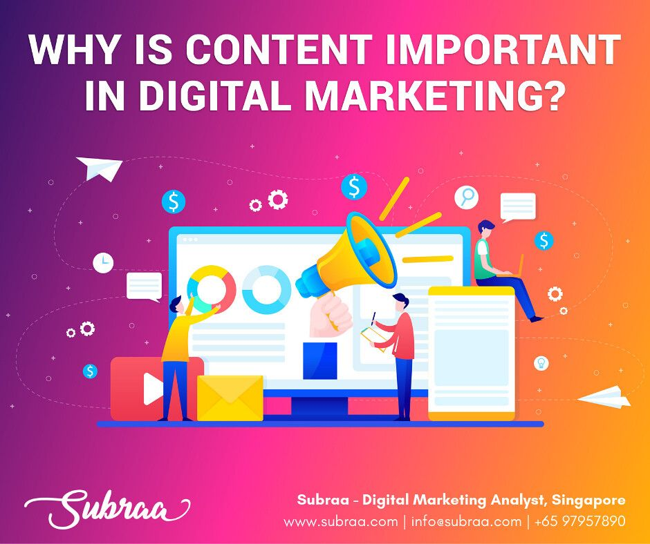 Why Is Content Important In Digital Marketing Digital Marketing Business Digital Marketing Digital Marketing Strategist