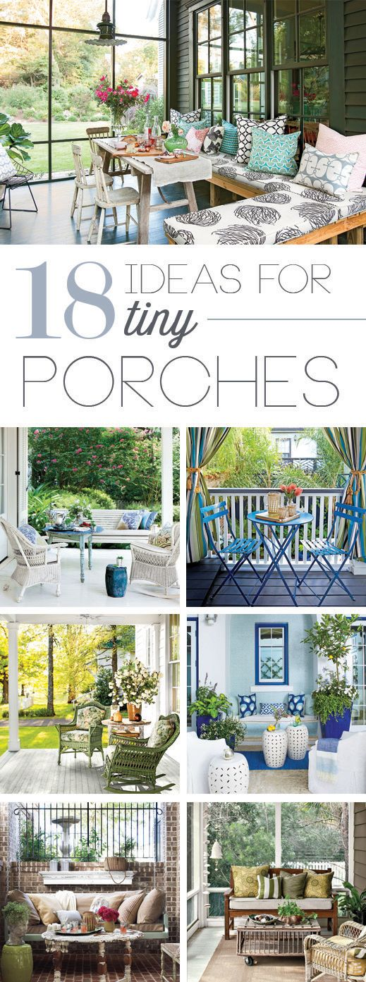 Tiny Porches and Patios That Are Giving Us Major Inspiration #smallporchdecorating