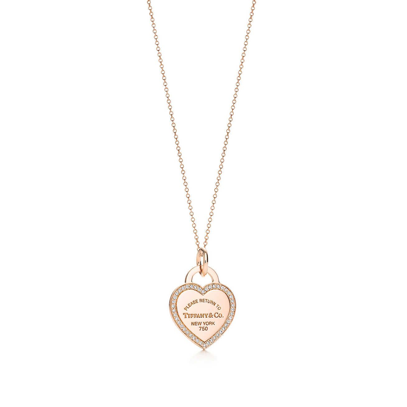 Return To Tiffany Heart Tag Charm And Chain Tiffany Co Necklace Tiffany Co Jewelry Rose Gold Heart Necklace
