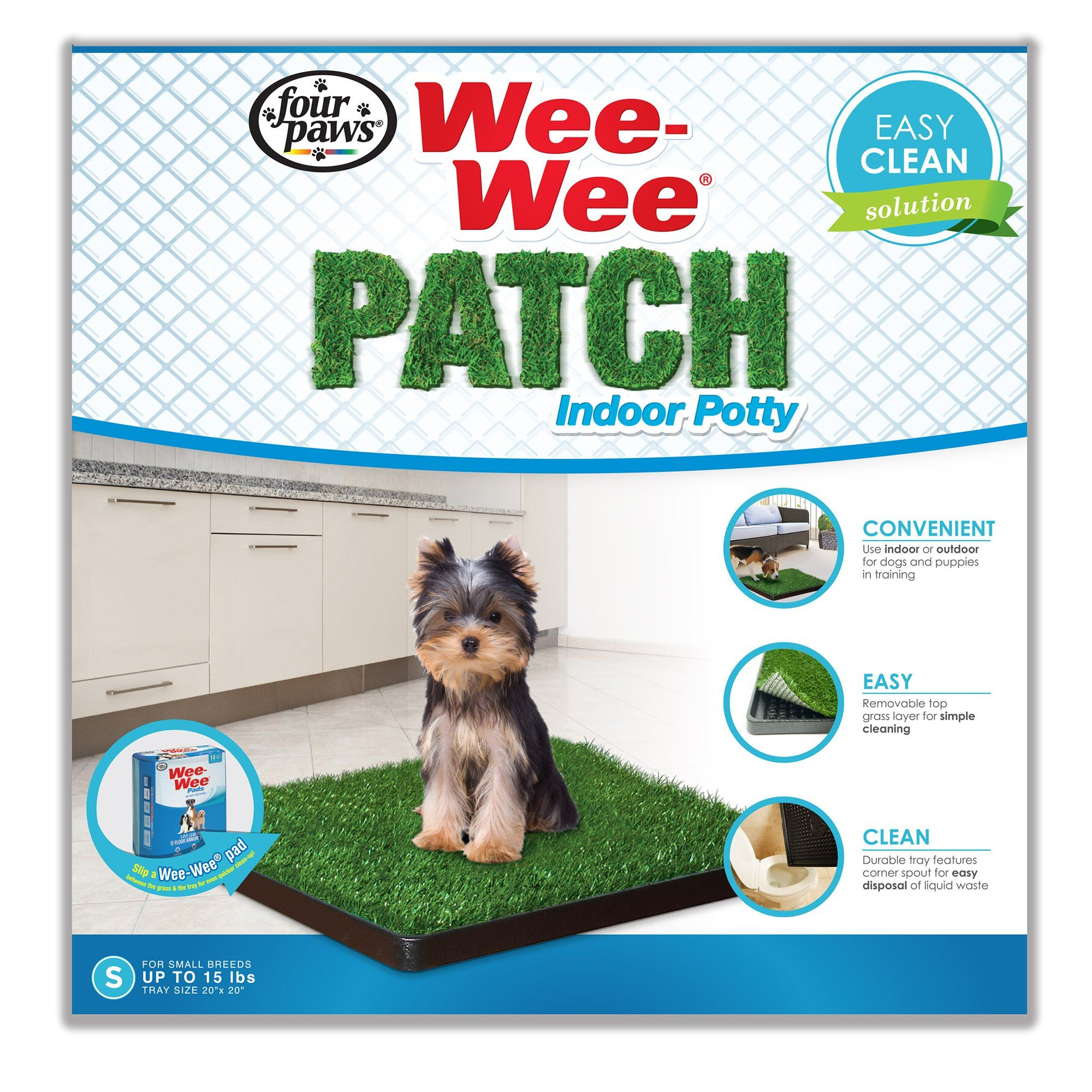 WeeWee Pads Patch Indoor Potty, Small Dog grass patch