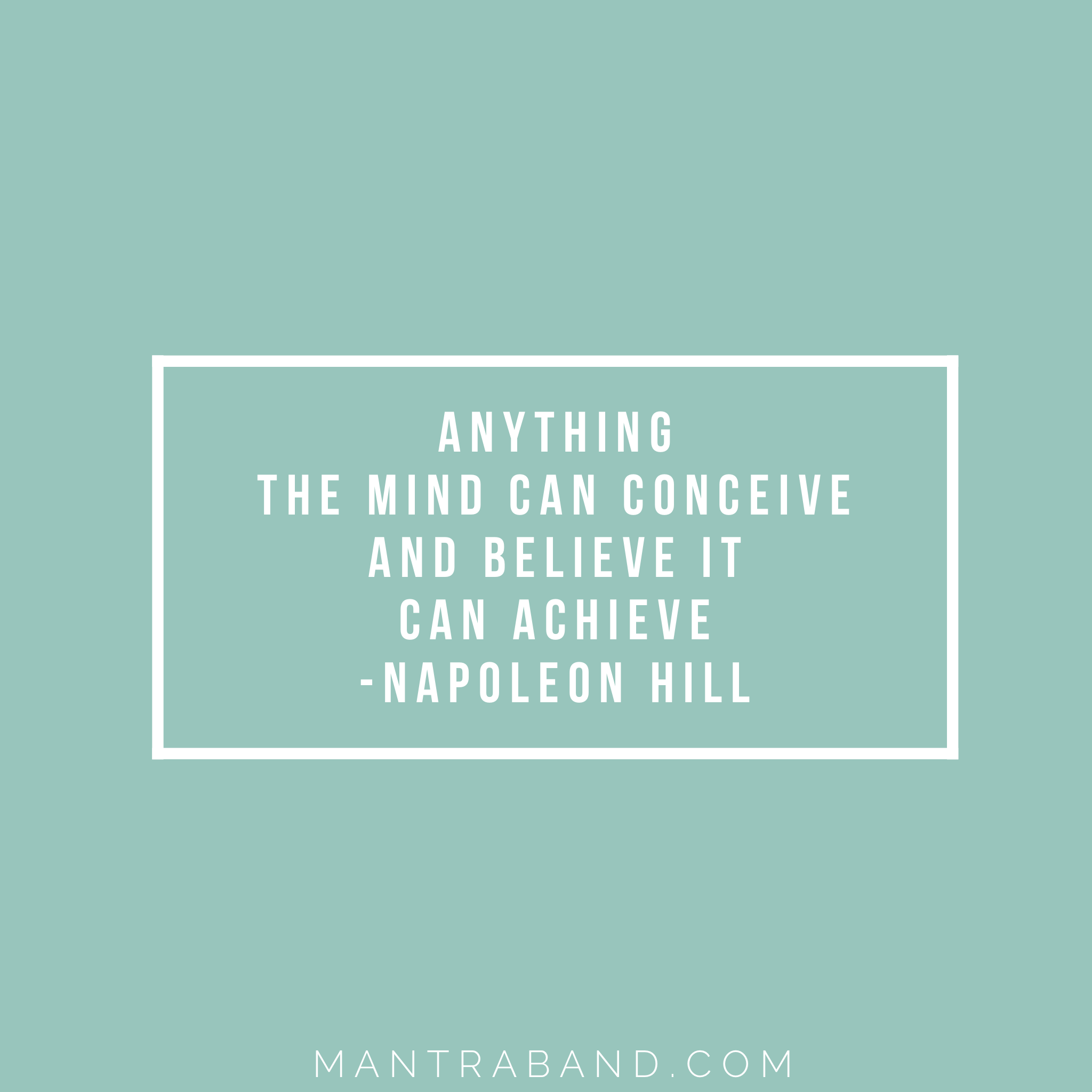 Anything the mind can conceive and believe it can achieve ...
