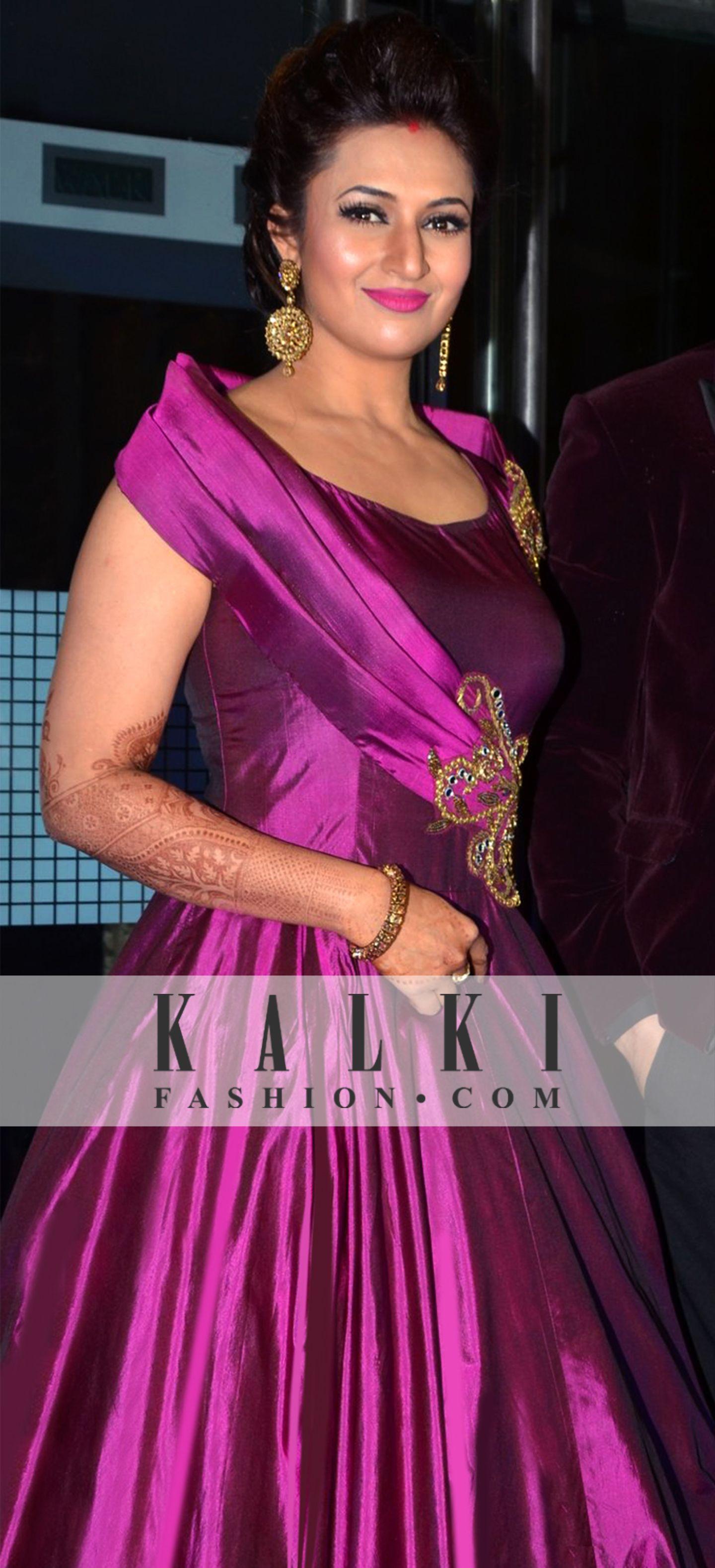 DIVYANKA TRIPATHI SIZZLES IN KALKI GOWN! KALKI BLOG | Indian bridal ...