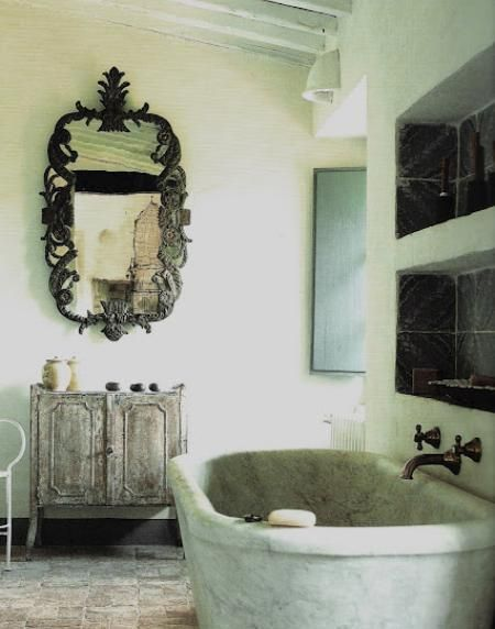 Italian Country Bathroom Edited By Lb For Linenandlavender